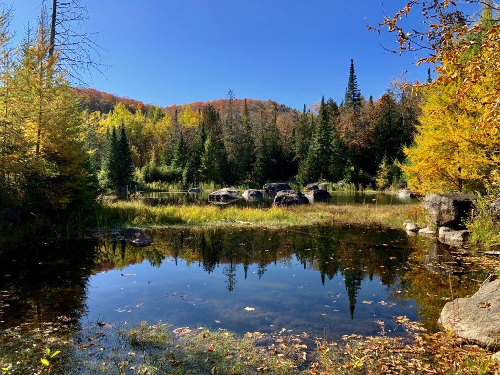 Lac des Bécassines en automne